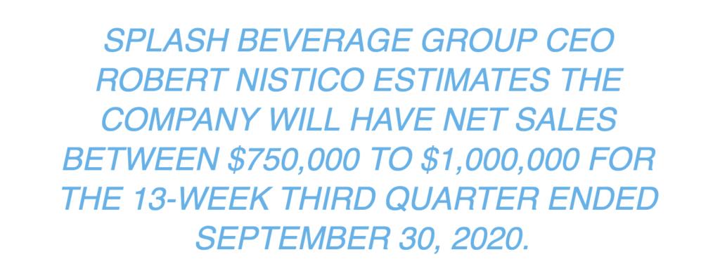 sbev estimates netsales results for 3rd quarter